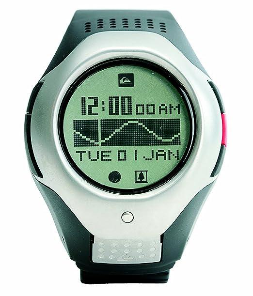Quiksilver Deep X Tidal Sports - Reloj de caballero de cuarzo, correa de goma color