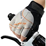 Allnice Cycling Gloves Mountain Road Bike Bicycle Gloves Half Finger Biking Riding Gloves Anti-slip Shock-absorbing Outdoor Sports Gloves for Men and Women