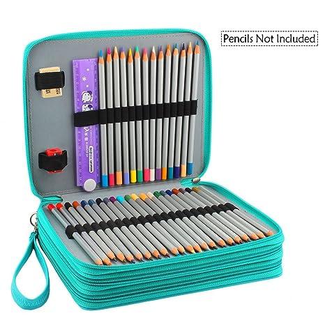 Amazon.com: Miraclekoo - Estuche para lápices (120 ranuras ...