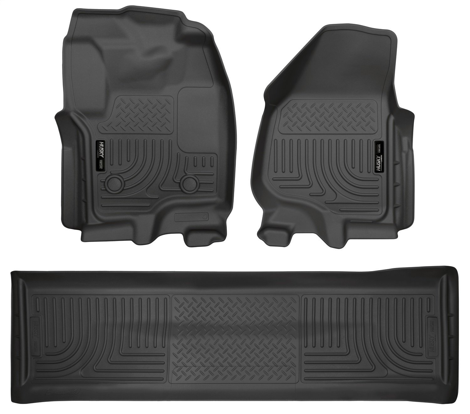 Amazon.com: Husky Liners 99711 Front & 2nd Seat Floor Liners Fits 12-16  F250 Crew WITH Carpet and Driver Side Foot Rest: Automotive