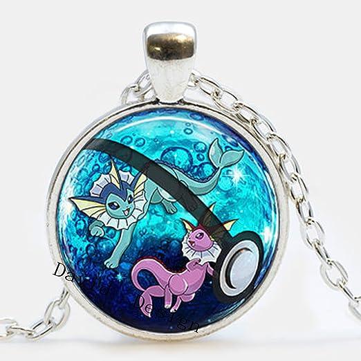 Superb Joyería Vaporeon & brillante Vaporeon collar Pokeball Pokemon Eeveelutions Jolteon Flareon Vaporeon Glaceon Espeon Umbreon//Idea de regalo cosplay A23: Amazon.es: Hogar
