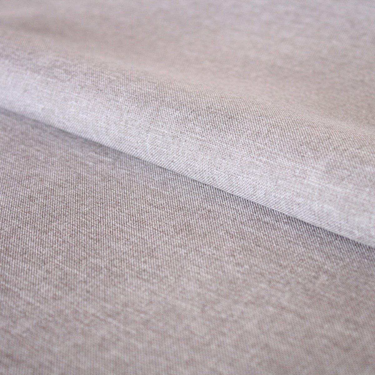 Hans-Textil-Shop Stoff Meterware Uni Grau meliert Outdoor, Polyester ...