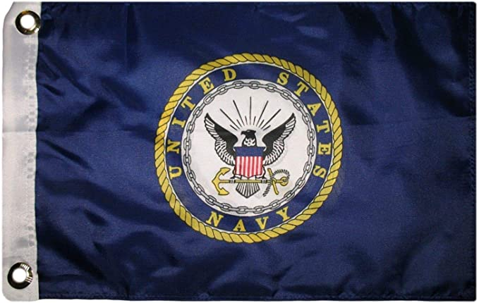 Navy Emblem Car Flag 12 x 18 Ramsons Imports Double-Sided U.S