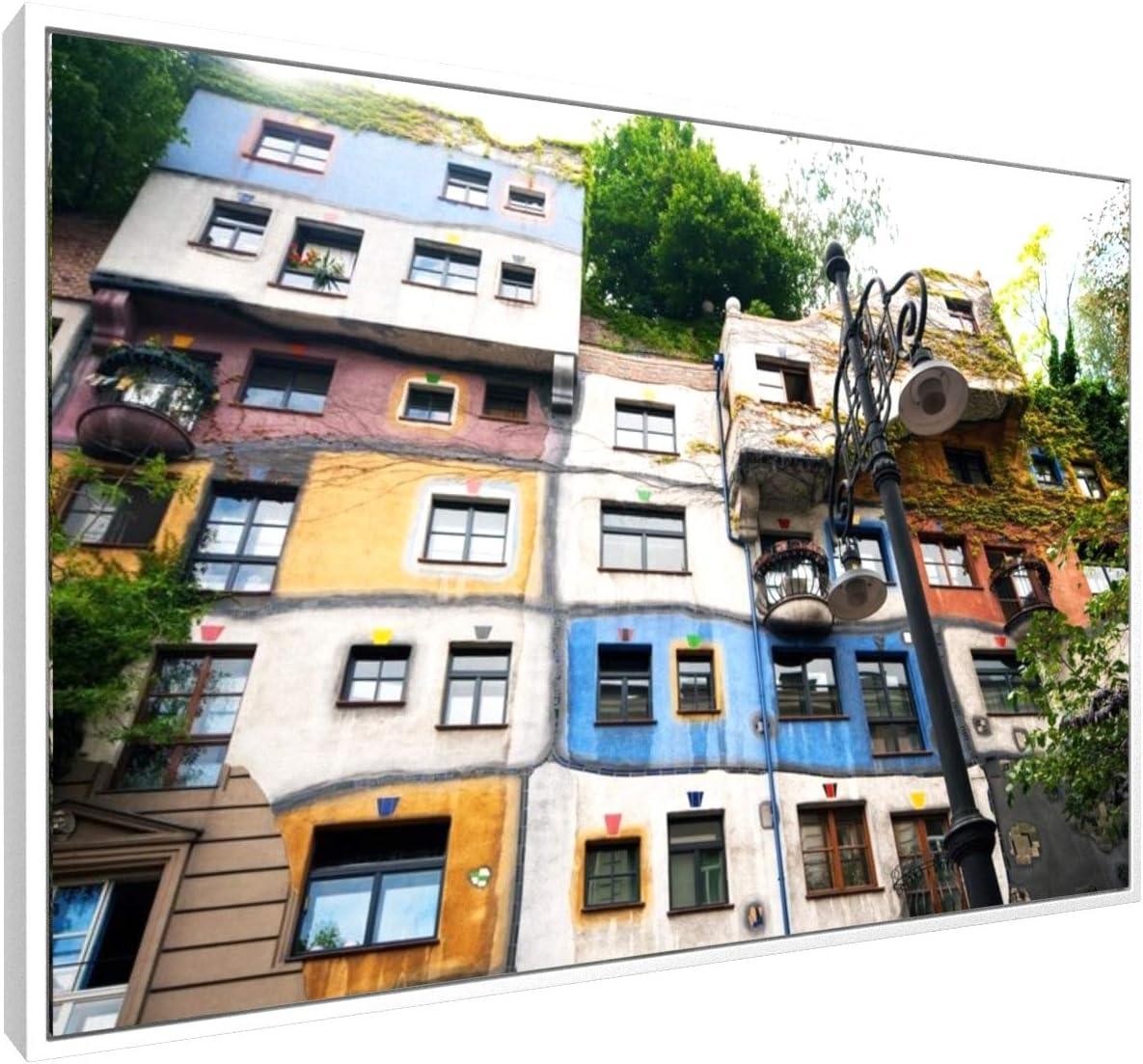 Gem/älde Hundertwasserhaus in Wien Premium Leinwandbild auf Keilrahmen St/ädte /& Reise /Österreich Anton Chuiko Foto Wand-Bild Bild auf Leinwand Kunst 30x20 cm