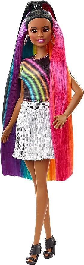 Barbie Rainbow Sparkle Hair Doll Styles May Vary