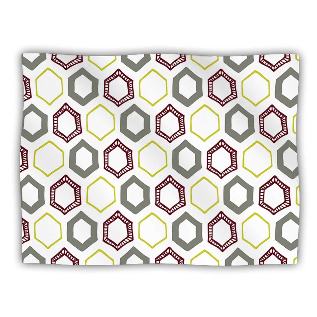Kess InHouse Laurie Baars 'Hexy Small' Purple Geometric Dog Blanket, 40 by 30-Inch