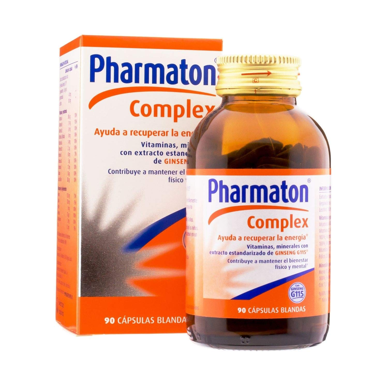 Amazon.com: PHARMATON Complex 90 CAPS - All- Natural - Gluten-Free Sugar-Free Multi-Vitamin Softgels - Improve Oxygenation & Prevents Fatigue: Health ...