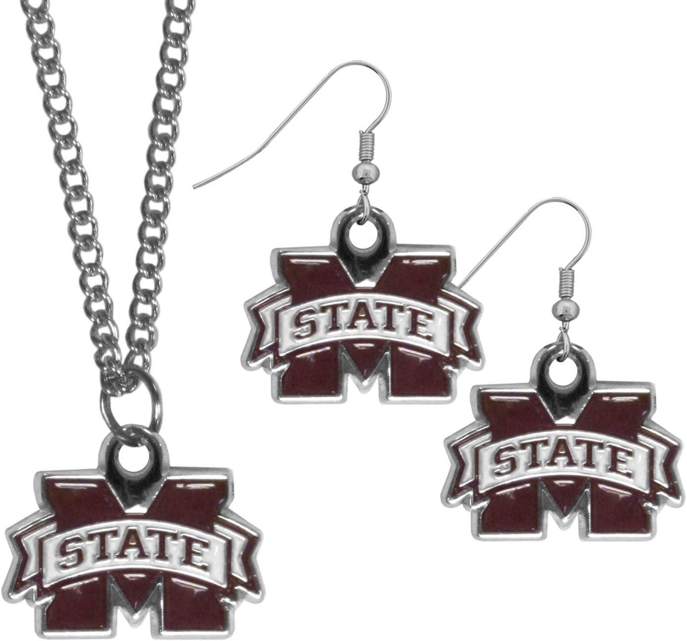 Siskiyou NCAA East Carolina Pirates Crystal Dangle Earrings
