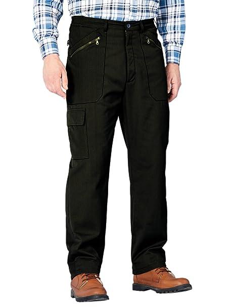 Chums Pantalones elásticos Forrados con Polar con Multibolsillos, para Hombre