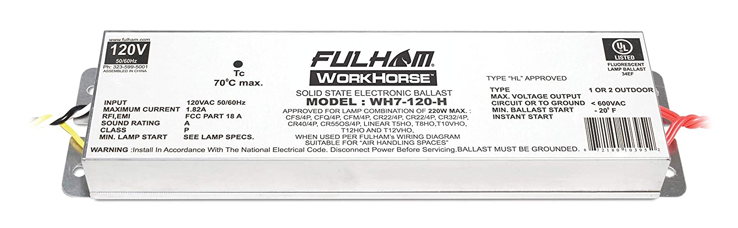 Fulham Lighting Fulham Workhorse Adaptable Ballast, WH7-120-H Fulham Co. Inc.