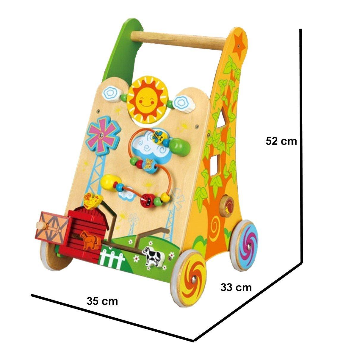 Andador de madera Walker: Amazon.es: Juguetes y juegos