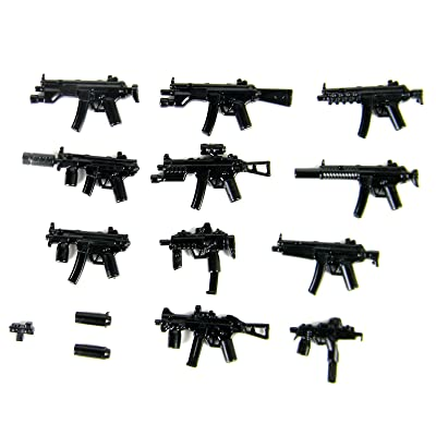 Custom Modern Combat SMG Series Weapons Pack (P5) Designed for Brick Minifigures: Toys & Games
