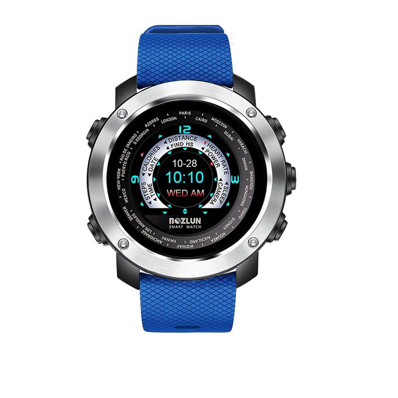Reloj inteligente de moda para hombre para iPhone Android con monitor de ritmo cardíaco, podómetro, pista de sueño, pantalla colorida y doble cara de ...