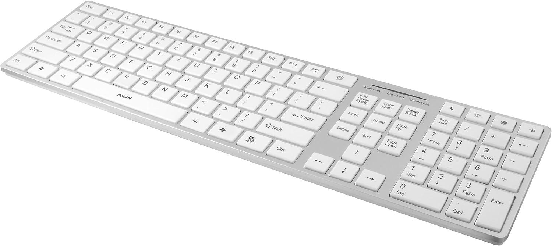 NGS Ivory - Teclado Multimedia Ultra-Fino de Silicona USB, Color: Blanco