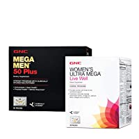 GNC Women's Ultra Mega Vitapak Program & Mega Men 50+ Vitapak Program, 30 Packets...