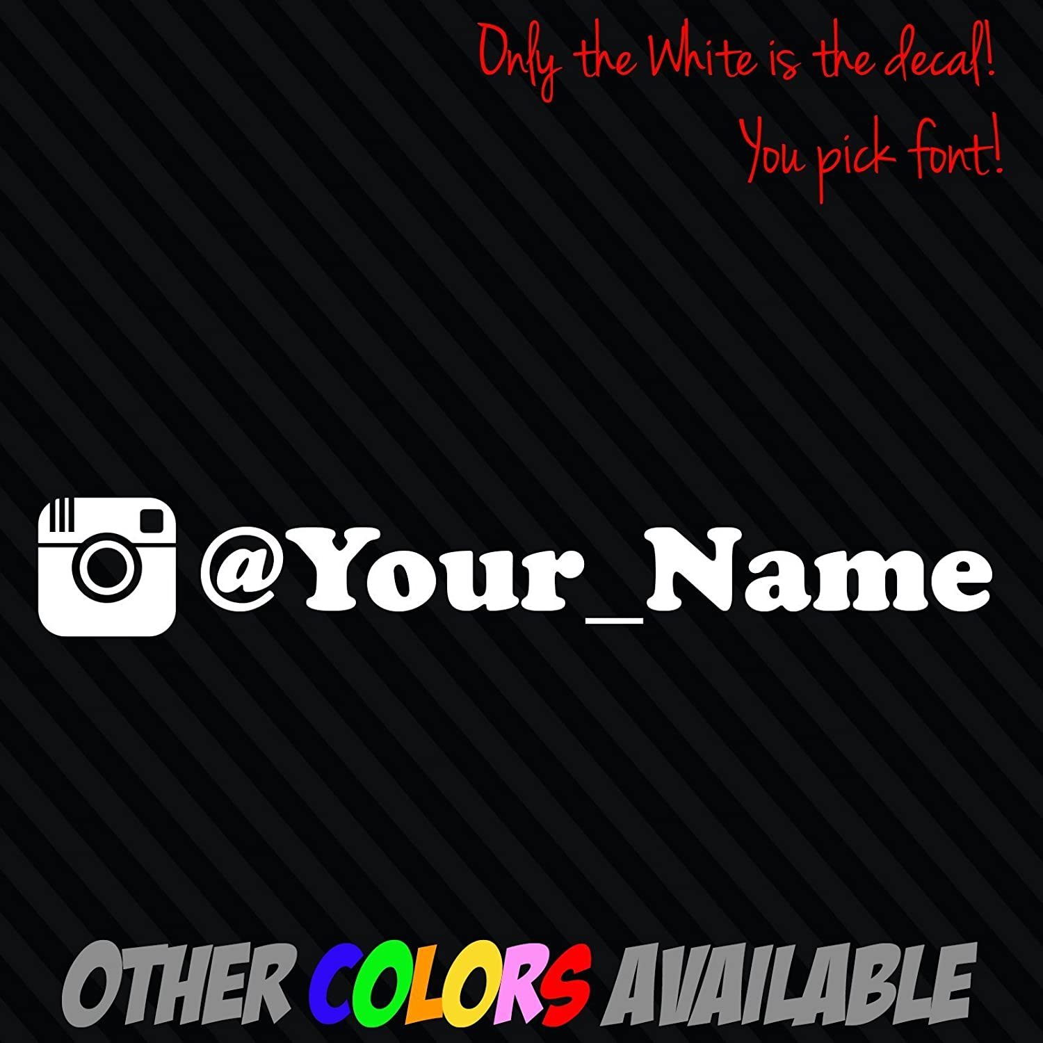 Amazon com instagram your user name handle vinyl decal sticker 8 car username custom jdm handmade