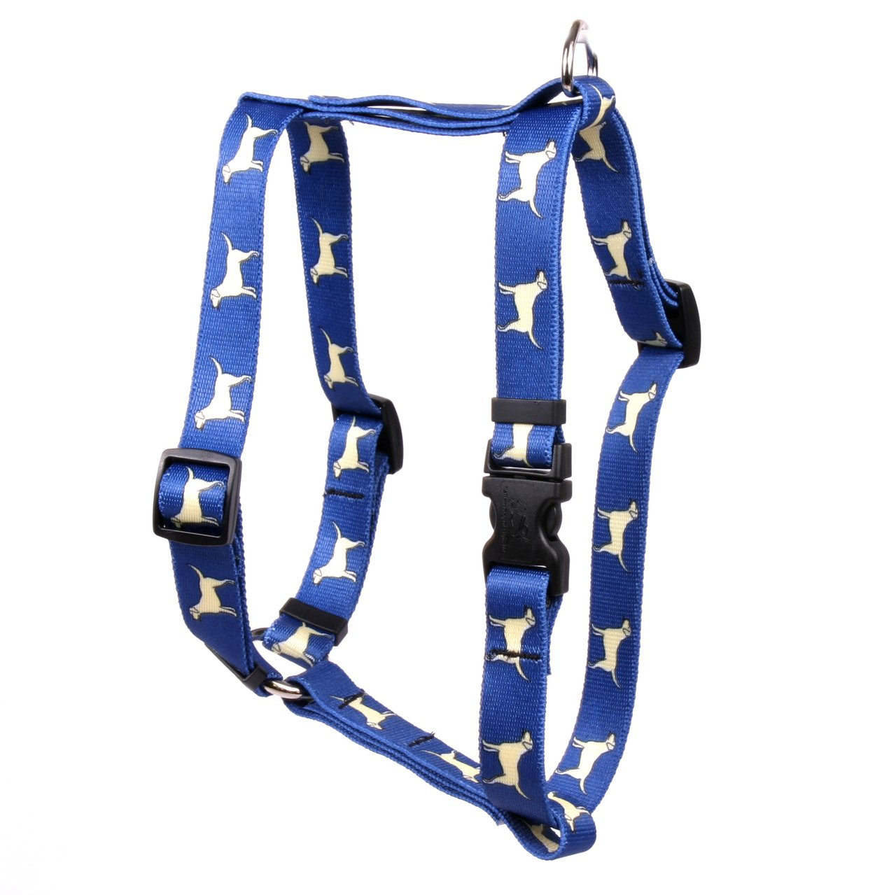 Yellow Dog Design Yellow Lab Roman Style H Dog Harness-Large-1'' and fits Chest Circumference of 20 to 28''