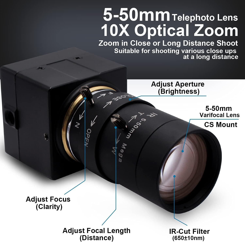 SATMW 5MP USB 3.0 High Speed 1//2.5 Industry Digital Video Microscope Camera 100X C-Mount Lens for Phone Repair