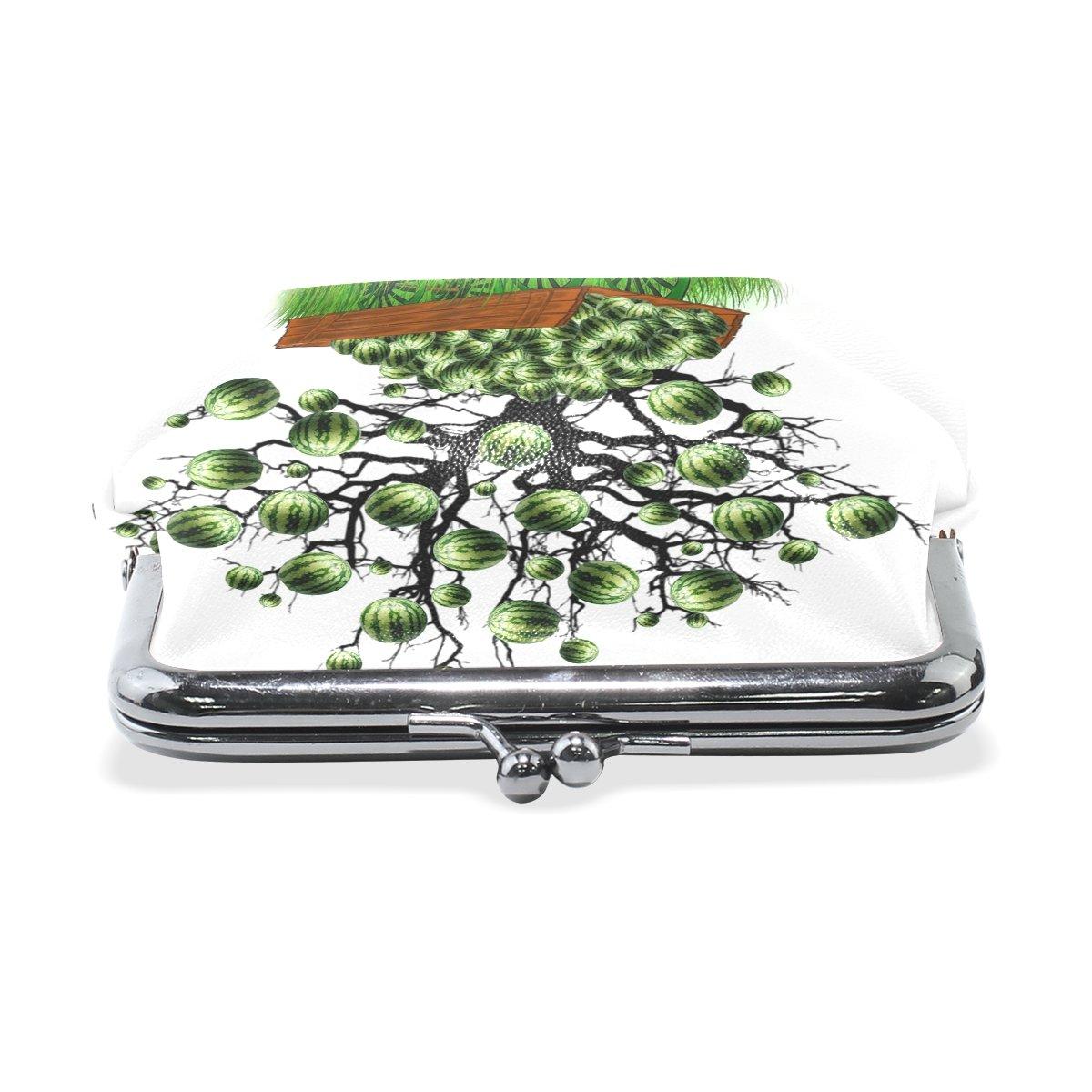 Coin Purse Watermelon Tree Wallet Buckle Clutch Handbag For Women Girls Gift