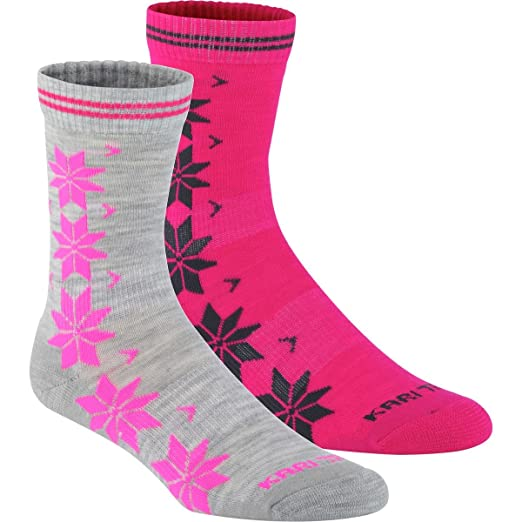Amazon.com  Kari Traa Vinst Wool Sock - 2-Pack - Women s Greym 2c95a540dd