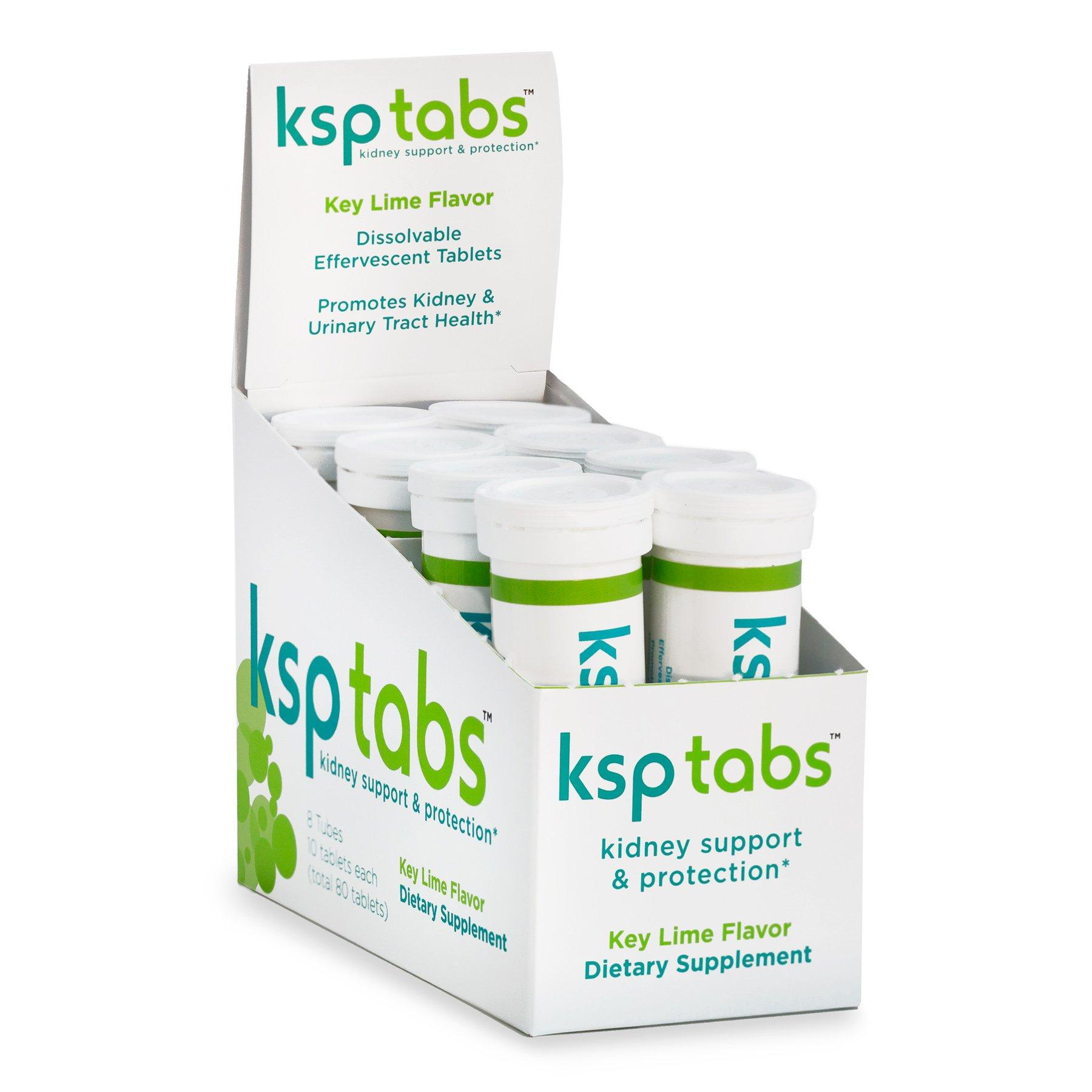 KSPtabs Kidney Stone Treatment - Hydration Tablets 8 Individual Tubes - Key Lime by KSPtabs