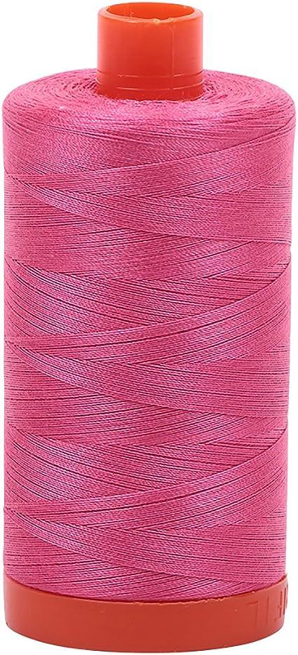 Aurifil Mako Cotton Thread Solid 50wt 1422yds Blossom Pink