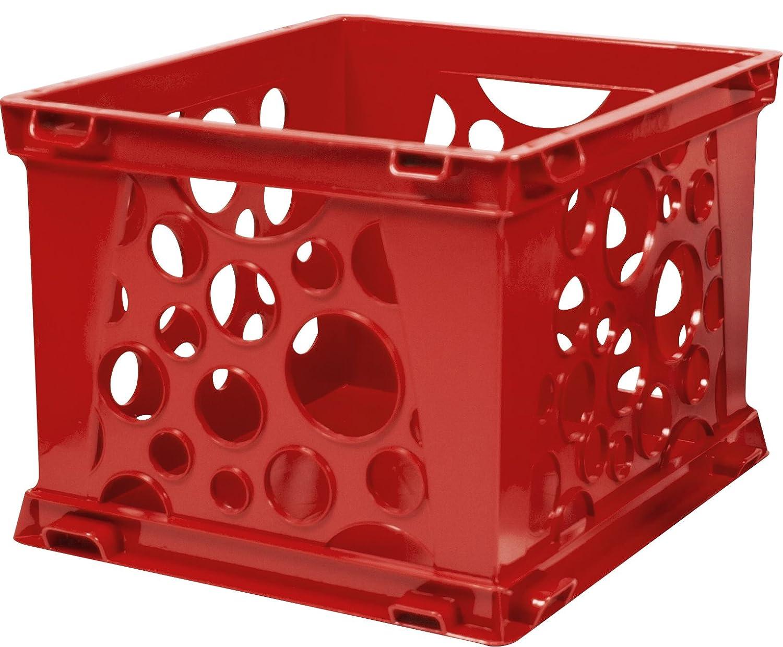 Storex Large Storage and Transport File Crate, 17.25 x 14.25 x 10.5-Inch, Red (STX61564U01C)