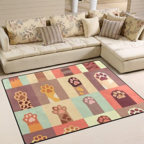 bennigiry contemporáneo diseño de gatos de gato antideslizante área alfombra, Cozy Shag colección Shag alfombra