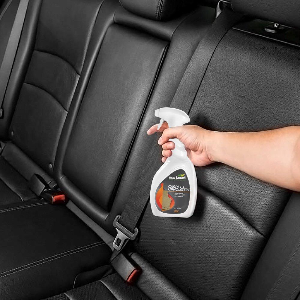 Limpiador para tapicería del coche, alfombras y muebles - Paño de microfibra incluido - Muy ecológico - Elimina manchas, sangre y grasa - Ayuda contra la ...
