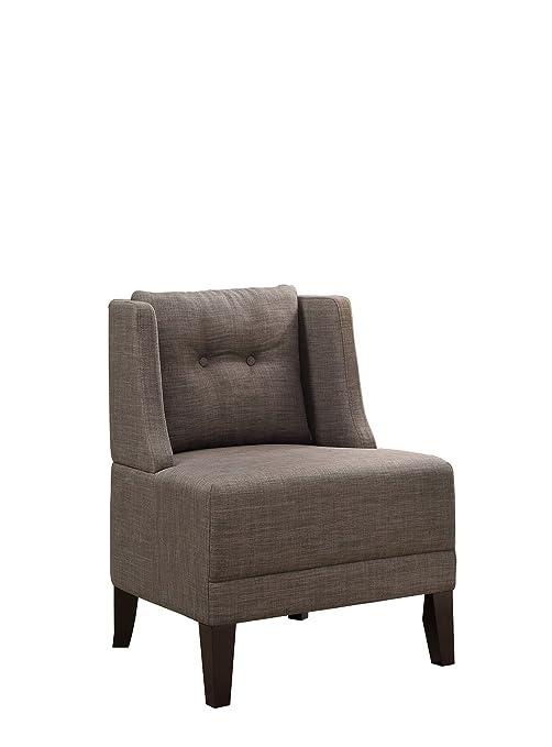 Amazon.com: poundex bobkona Prissy silla de acento en café ...