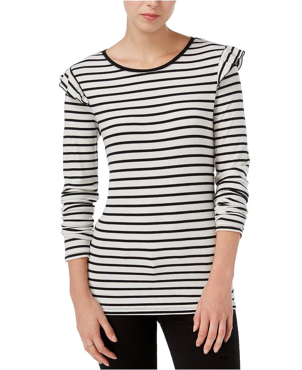 Alfani Maison Jules Women s Long-Sleeve Striped Ruffled Top c56fef250