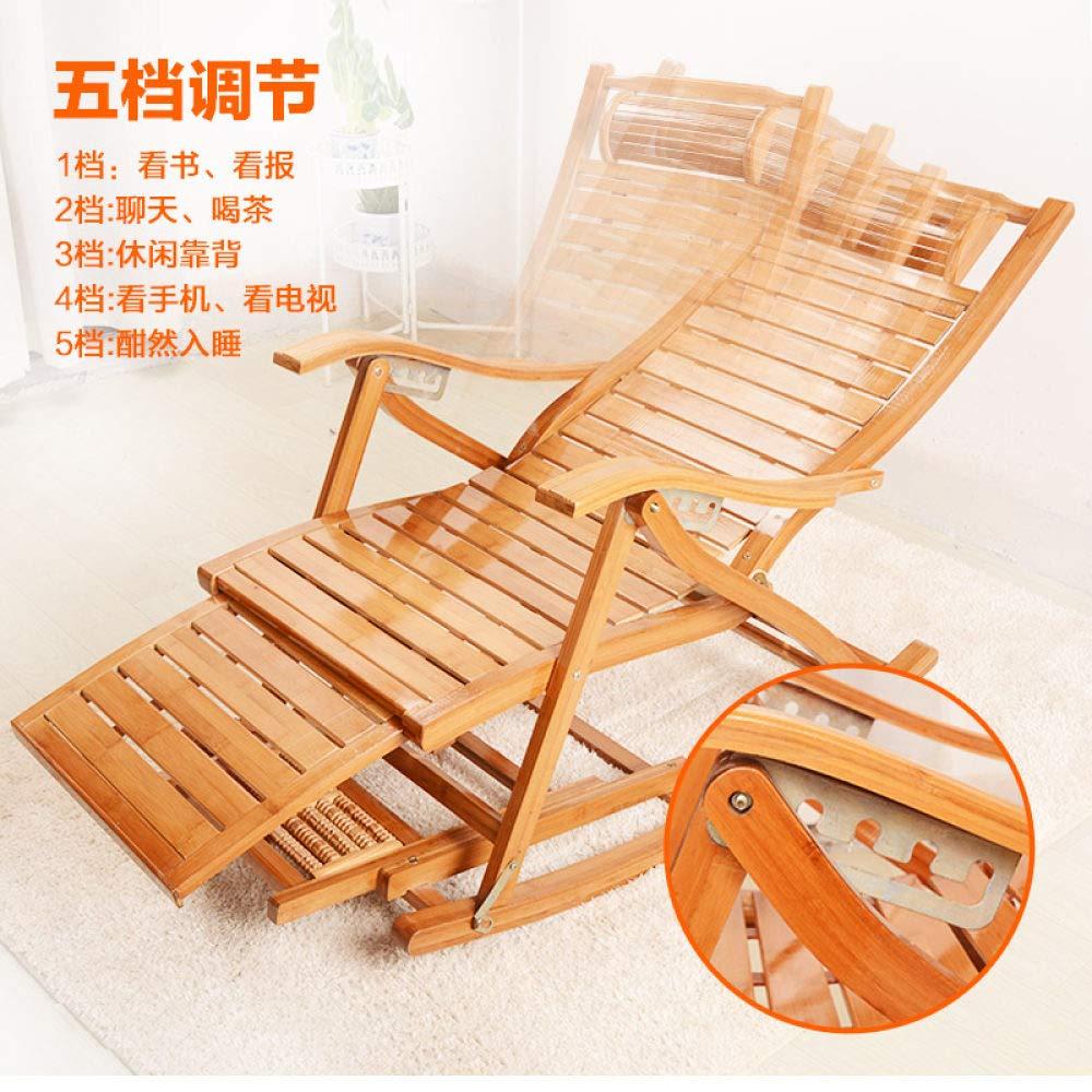 HJFGSAK stol bambu vilstol hopfällbar lunchpaus siesta stol gungstol vuxen barnstol hem äldre balkongstol, stil 6 stil 6