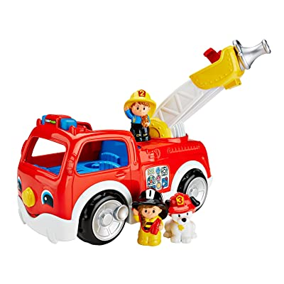 Fisher-Price Little People Lift 'n Lower Fire Truck: Toys & Games