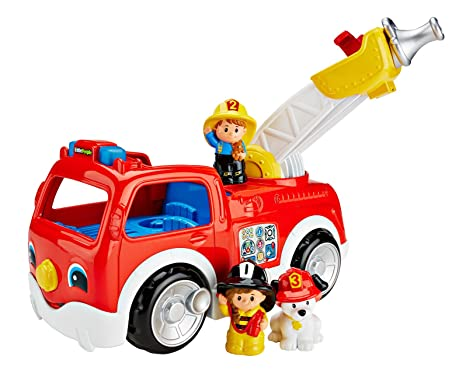 amazon com fisher price little people lift n lower fire truck