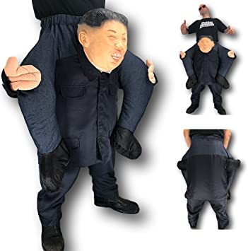 Carry Me Leader Mens Fancy Dress Kim Jong-un Dictator Adults Piggy Back Costume