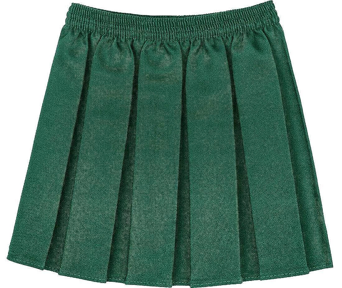Girls Kids Box Pleated School Uniform Elasticated Waist Skirt Age 2-18 Years