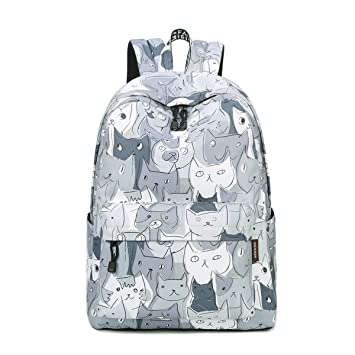 27949b2dd9 Amazon.com: Acmebon Lightweight Waterproof College Laptop Backpack Girl  Cute Bookbag Suit for 15.6 Laptop Cat: AcmebonDirect