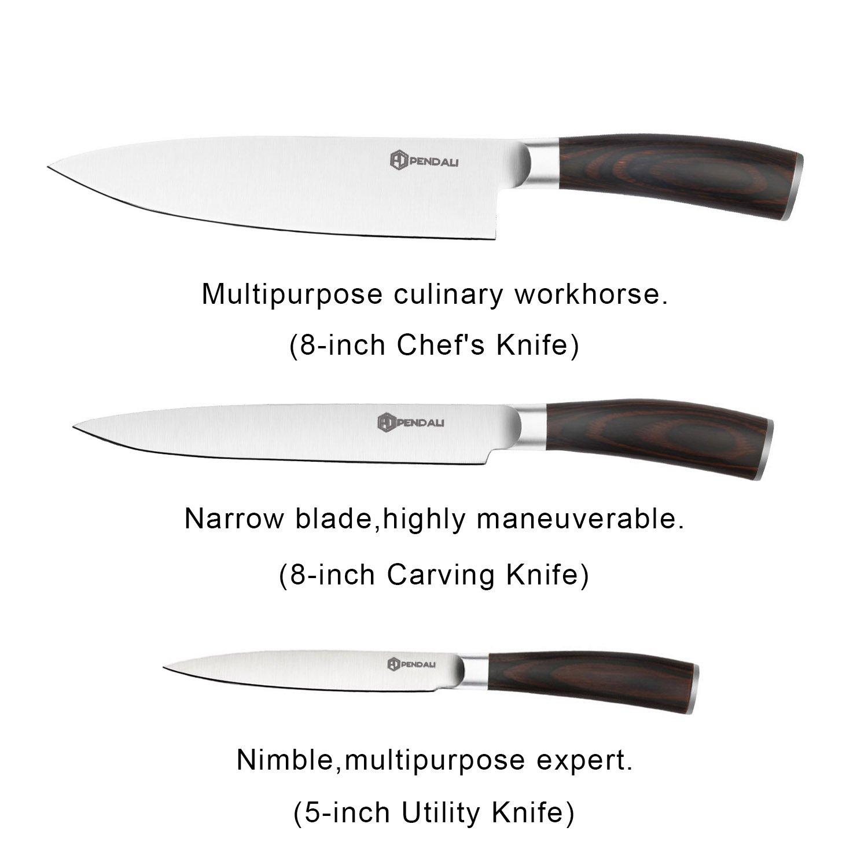 Amazon.com: Juego de cuchillos, péntalo profesional juego de ...