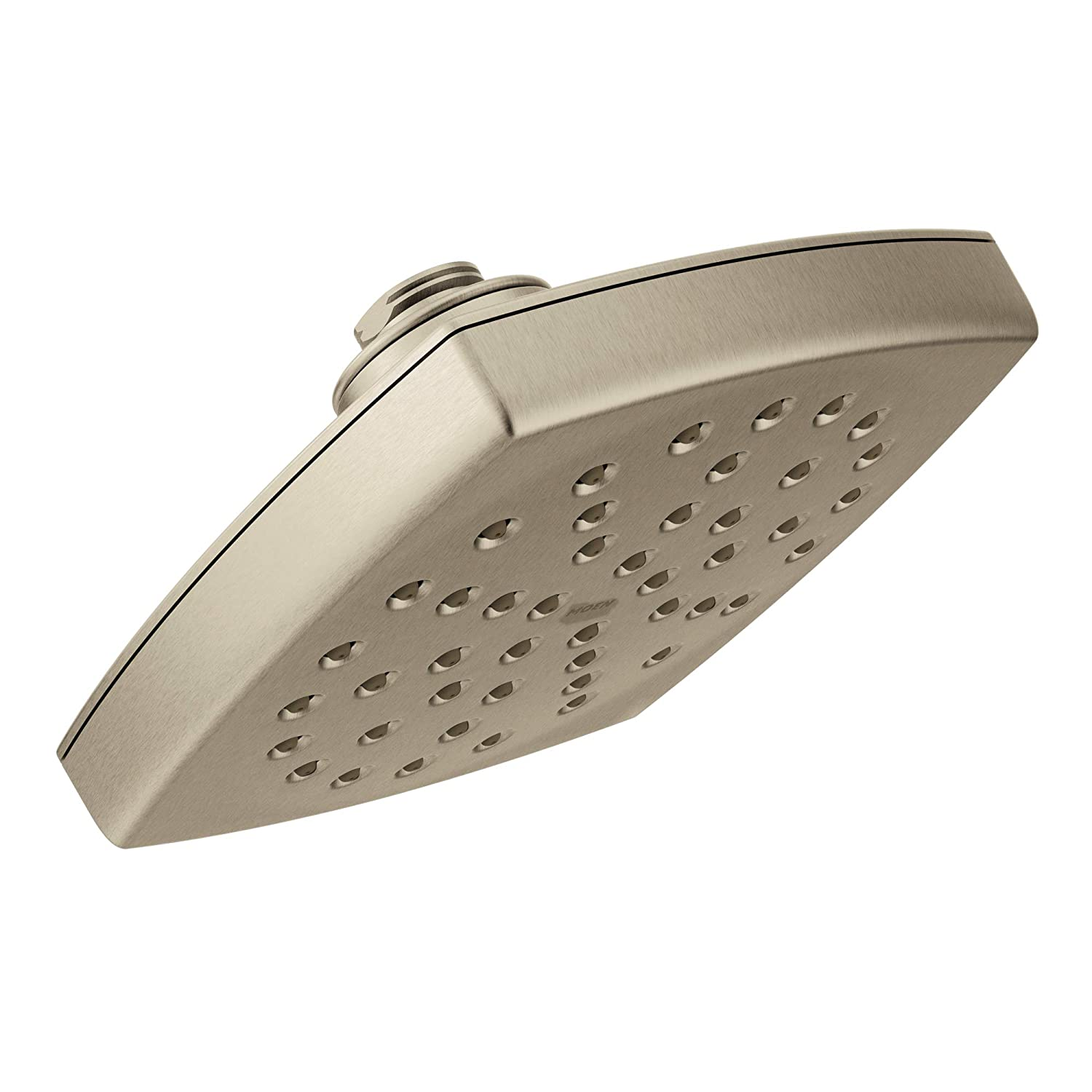 Moen S6365BN Voss 6 Single-Function Rainshower Showerhead with Immersion Technology at 2.5 GPM Flow Rate, Brushed Nickel