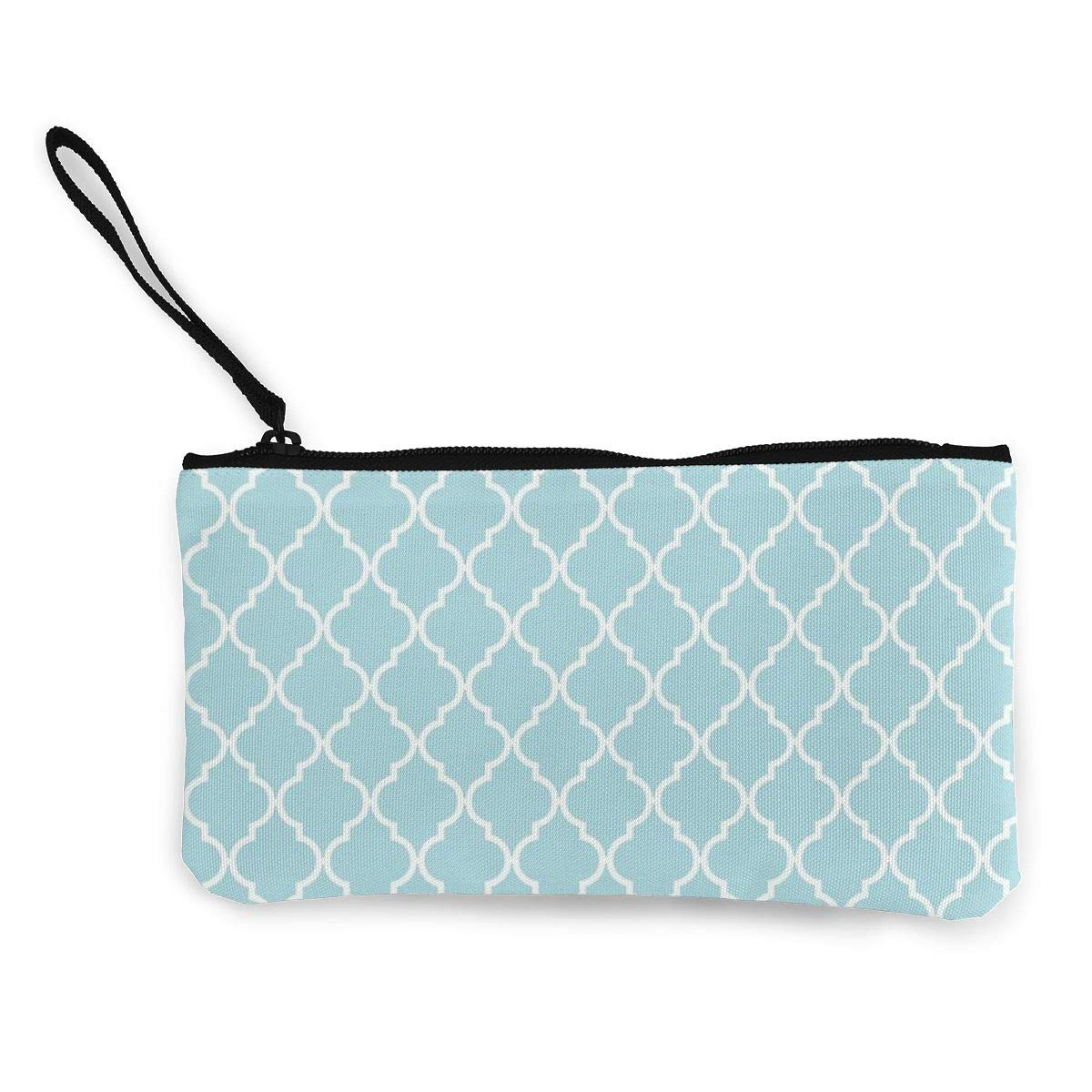 Yamini Moroccan Trellis Latticework Blue White Cute Looking Coin Purse Small and Exquisite Going Out to Carry Purse