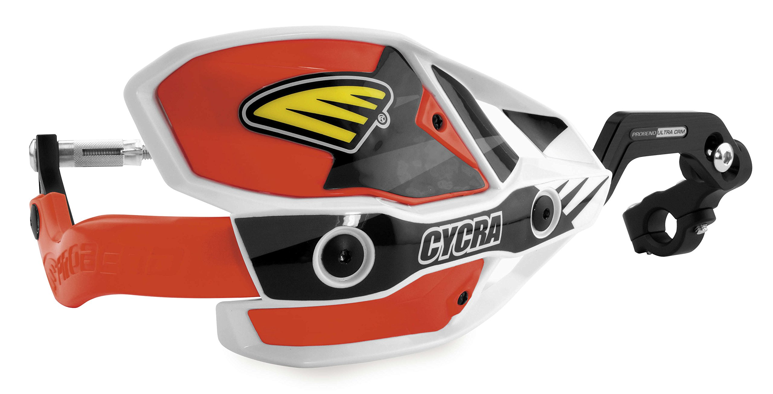 Cycra 1CYC-7408-33X Ultra ProBend CRM Handguards - 1-1/8in. Clamp - White/Red/Red, Color: Red
