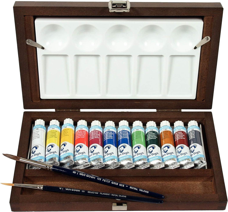 Caja de Madera Acuarela Van Gogh TUBE BOX GWC112: Amazon.es: Hogar