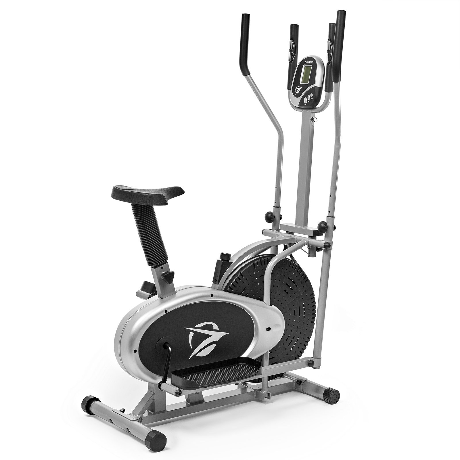 Plasma Fit Elliptical Machine Cross Trainer 2 in 1 Exercise Bike Cardio Fitness Home Gym Equipment by Plasma Fit