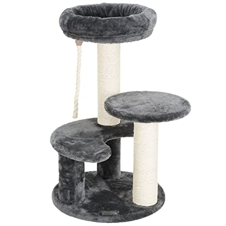 Ollieroo Small 25 6 H Cat Tree Condo Playhouse With Sisal Scratch Posts Kitty Furniture Tower