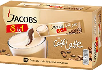 Amazon com : Jacobs 3in1 Caffe Latte, 2 Pack, 2 x 10 cup
