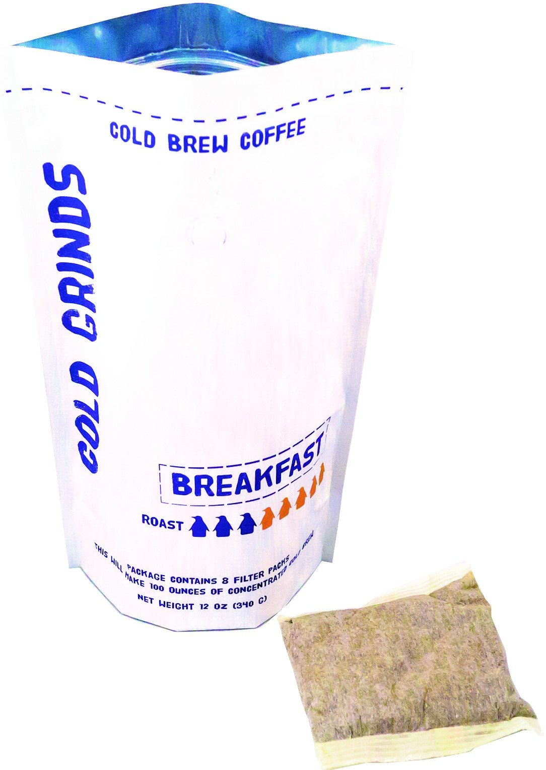 Cold Brew Coffee Packs - Easy at Home Brewing - Makes 100 oz of Smooth Cold Brew - 66% Less Acidic - Cold Grinds Breakfast Blend (Medium Roast)
