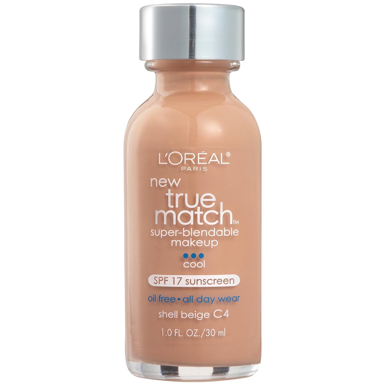 L'Oreal Paris Makeup True Match Super-Blendable Liquid Foundation, Shell Beige C4, 1 Fl Oz,1 Count