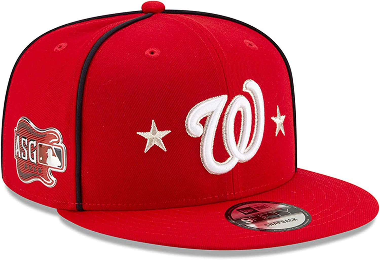 New Era ワシントンナショナルズ 2019 MLB オールスターゲーム 9Fifty スナップバック 調節可能な帽子 - レッド