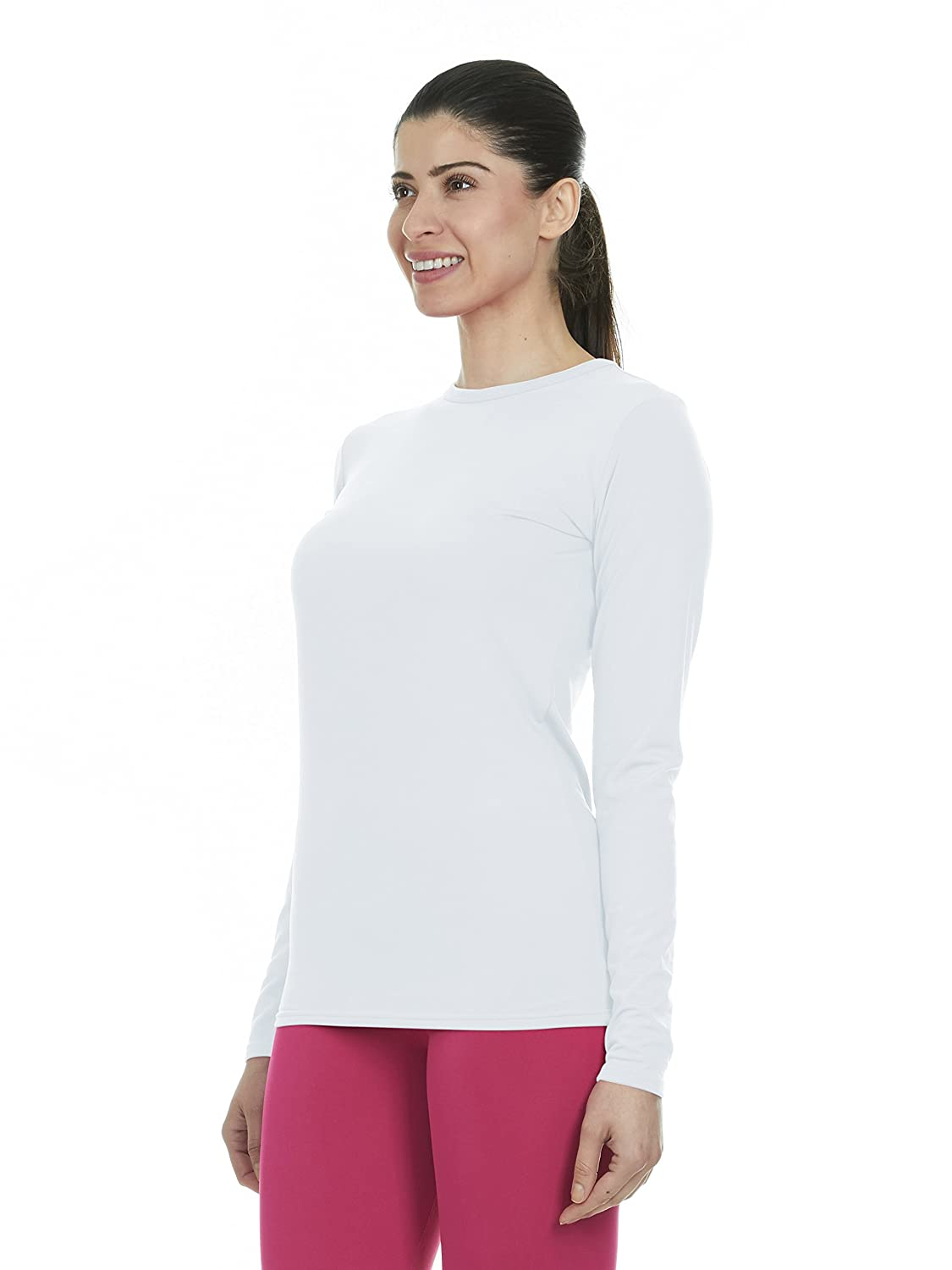 22c6ef43 Thermajane Womens Ultra Soft Thermal Underwear Shirt Compression Baselayer  Crew Neck Top Active Base Layers