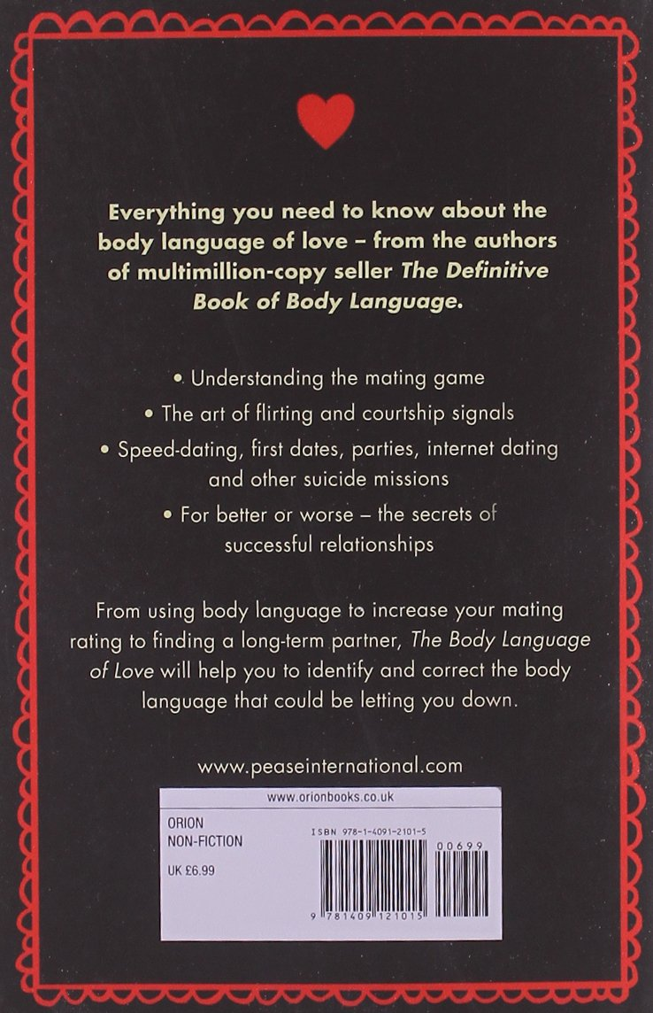 The body language of love amazon co uk allan pease barbara pease 9781409121015 books